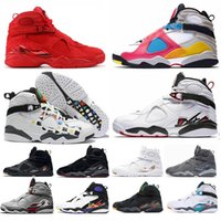 tênis de basquete coelho venda por atacado-Nike Air Jordan Retro 8 men basketball shoes SP Se Multi-Color Valentines Day Three Peat SOUTH BEACH Reflective Bugs Bunny RAID Playoff sport sneakers