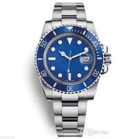 relógios de aço stanless venda por atacado-2019 Master Mens Watch 40 MM sub azul dial mecânico automático Stanless aço moda esporte auto-vento relógios de pulso relógios