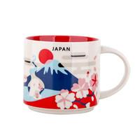 kutu kupaları toptan satış-14 oz Kapasiteli Seramik Starbucks Şehir Kupa Japonya Şehirler Orijinal Kutusu ile En Iyi Kahve Kupa Bardak Japonya Şehir