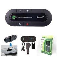 mikrofon für auto großhandel-Drahtlose Bluetooth Freisprecheinrichtung Car Kit Music Player Mikrofon für alle Handy mit Kleinpaket