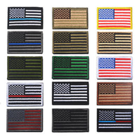 Wholesale iron embroidery patches resale online - US Flag Morale Patches Uniform American flag patches Iron on army patch Applique Sticker Patches for Hat Badge Embroidery Magic Sticker