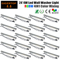 Wholesale stainless washers for sale - Group buy Gigertop Units x4W RGBW Outdoor LED RGBW Wall Wash Light Flood Washer Lamp DMX Control Stainless Steel Bridge Garden