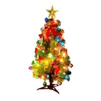 Wholesale other accessories for sale - Group buy Christmas Decoration Gifts Different Size Christmas Tree With Ornament Suit Exquisite Santa Claus Bell LED Lamp Pendant Accessories bx6H1