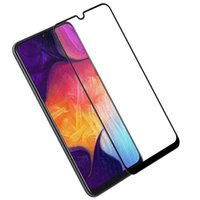 Wholesale colorful tempered glasses for sale - For Samsung Galaxy A30 A50 A8S A9S A9 H Full Cover Colorful Tempered Glass Screen Protector Silk Print no retail package