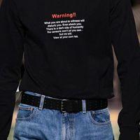 colares de algodão para mulheres venda por atacado-19FW Vetements Gola Alta Camisola Preta Aviso Algodão Hip Hop Skate Blusas Homens Mulheres Casaco Casuais Moda HFLSMY061