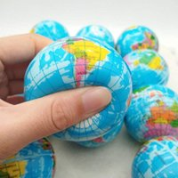 Wholesale squeeze balls kids resale online - Squeeze Toy Balls Mini Earth Decompression Toys Anti Stress Balls Venting Sponge Balls