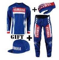 motocicleta motocross motocross venda por atacado-TOP ternos de corrida de motocross motocicleta mx dh mtb equitação jersey e calças para yamaha combinação conjuntos quentes s-xxl