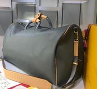 Wholesale duffel bag for travel resale online - 2019 designer Travel bag Men keepall brand real leather crossbody bag luxury totels For men canvas bag Duffel Bags b125