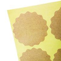 Wholesale blank kraft stickers resale online - 1000 cm Vintage Blank Lacy Kraft Label Sticker DIY Hand Made For Gift Cake Baking Sealing Sticker Thank You Scrapbooking