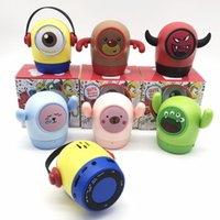 freie karikaturklänge großhandel-Cartoon Bluetooth Lautsprecher Wireless Mini-Karte Kleiner Ton im Freien Karikatur-Puppe kreativen Produkt Geschenk Customization DHL-freien