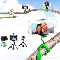 telefon tutacağı üçayak toptan satış-Mini Gekko Tripod Dağı Taşınabilir Esnek Telefon iPhone Kamera Için Tutucu Stand