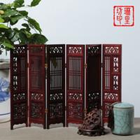 décoration de meubles chinois achat en gros de-Style classique chinois artisanat de meubles en palissandre de style sculpté écran creuse micro décoration cadeaux de maison petits ornements