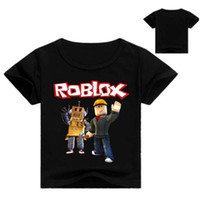 Wholesale baby fashion games resale online - Roblox D Printed T Shirt Summer Short Sleeve Clothes Children Game T shirt Girls Cartoon Tops Tees Baby Girls Boys Shirt