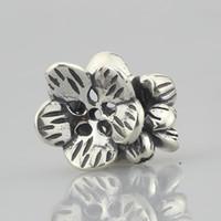 925 silbernes indisches armband großhandel-925 Sterling Silber Indian Cress Charm Bead (2) Passt europäischen Troll 3,0 mm Armband Schmuck
