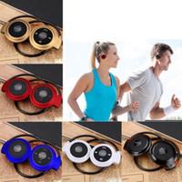 ipad kulaklıklar bluetooth toptan satış-Taşınabilir Kablosuz Spor Kulaklık Bluetooth Stereo Spor Kulaklık Mini 503 FM Radyo Müzik Kulaklık için iPhone 6 5 S iPad Samsung S4 S5
