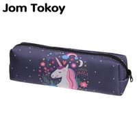 Wholesale 3d stationery resale online - Jom tokoy D Print Cosmetic Bag The New Women unicorn Makeup Bag Stationery Pouch Kids School Pencil