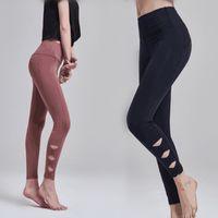Wholesale yoga pants resale online - Super Stretchy Gym Tights Energy Seamless Tummy Control Yoga Pants High Waist Sport Leggings Running Pants Women MMA1968