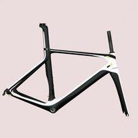 çinli karbonlu bisikletler toptan satış-Gizli Kablo Tasarım Çinli Aero Oem Karbon Yol Bisikleti Çerçeve Di2 bisiklet çerçevesi