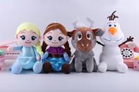 muñecas de cine al por mayor-4 Estilos Snow Queen II juguetes de peluche muñeco de nieve de 20 cm de la película La muñeca rellena embroma el regalo los 20CM del envío del ccsme