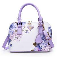 pflaumenhandtaschen großhandel-NEW Luxus Frauen Handtaschen Totes Modetasche Designer Taschen Handtaschen-Frauen Berühmte Marke Sac A Main Klein Shell 2019 Plum Blumen-Tasche