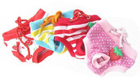 Wholesale dog sanitary diapers resale online - Female Pet Sanitary Underwear Lovely Puppy Dog Pant Short Panty Strawberry Duck Striped Diaper colors Whosale