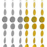 suministros de boda amarillo al por mayor-5pcs Festival Party supplies PVC lentejuelas Cortina Interior Cortinas decorativas DIY Suministros de boda para la decoración del hogar de la boda