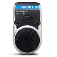 kit de carro bluetooth com energia solar venda por atacado-Solar Powered Car Kit Bluetooth Display LCD Identificador de Chamadas Mãos Livres Bluetooth Speaker em Carro Chamada Handsfree