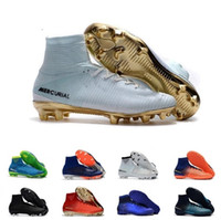 sapatos de futebol superfly ag venda por atacado-2019 Nova Chegada Chuteiras Atacado de Alta Qualidade Mercurial Superfly Elite CR7 Botas De Futebol Superfly VI Neymar FG AG Futebol Sapato Eur40-46