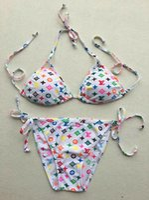 mektup mayo toptan satış-Kadınlar Için 2019 Lüks Mektup tasarımcı Bikini Mayo Marka Mayo Seksi Backless Beachwear Yaz Bikini Seksi Bayan Mayo