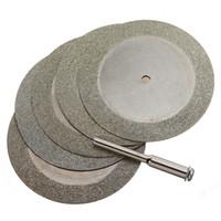 Frshpping5pcs 50mm Diamond Cutting Discs & Drill Bit For Rotary Tool Glass Metal
