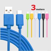 nuevo tipo de cargador de teléfono al por mayor-Cable micro USB Tipo C 1M 2M 3M para Android Cargador de teléfono de alta velocidad Cable de datos de sincronización para Samsung S10 S9 S8 más teléfono móvil LG de Huawei nuevo