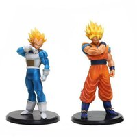 top toplama toptan satış-Dragon Ball Z Goku Süper SaiYan Uyanış Gohan baba erkek yüzme şort Vegeta PVC Anime Heykelcik DBZ Koleksiyon Modeli 21 cm