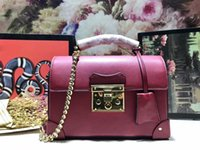 Wholesale fashion bamboo handles for sale - Group buy High end women bamboo handle totes detachable chain shoulder strap handbags brand fashion real leather shoulder bags rivets crossbody bags