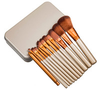 pc bürsten großhandel-Make-up 12 PC / set Bürsten-Verfassungs-Bürsten-Installationssatz-Sets für Lidschatten Blusher kosmetische Bürsten Werkzeuge RRA2105