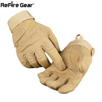Wholesale military gloves man resale online - ReFire Gear Army Combat Tactical Gloves Men Military Police Soldiers Paintball Full Finger Gloves Male SWAT Fight Shoot Mittens SH190921