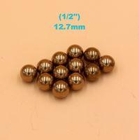 industriell elektronisch großhandel-1/2 '' (12,7 mm) Messing (H62) - Massive Lagerkugeln für industrielle Pumpen, Ventile, elektronische Geräte, Heizelemente und Möbelschienen