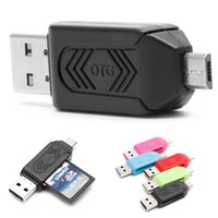 Wholesale tablet android china for sale - 2 in USB Male To Micro USB Dual Slot OTG Adapter With TF SD Memory Card Reader For Android Smartphone Tablet Samsung