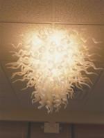 elegante kristall-deckenleuchten groihandel-Elegante moderne Deckenleuchten LED Kristall Kronleuchter für hohe Decken Büro Kunst Dekoration mundgeblasenem Glas Deckenleuchte