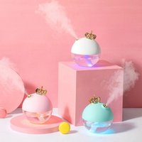 Wholesale using essential oils resale online - 320ML Cute Crown Air Humidifier Aroma Essential Oil Diffuser for Home Office Use
