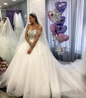düğün için toplar toptan satış-Arapça Boho Balo Gelinlik Kapalı Omuz Sahil Gelinlikler Ucuz Prenses Ülke Gelinlik Vestidos De Novia Z82