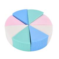 renk sihirli makyaj toptan satış-8 adet / grup Şeker Renk Üçgen Şekilli Makyaj Sünger Yumuşak Sihirli Yüz Temizleme Kozmetik Puf Temizlik Yıkama Yüz Makyaj
