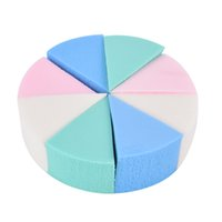 косметика для леденцов оптовых-8pcs/lot Candy Color Triangle Shaped  Sponge Soft Magic Face Cleaning Cosmetic Puff Cleansing Wash Face
