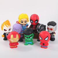 Wholesale super squishy toy resale online - Squishy Toys The Avengers Models Marvel Super Hero Decompression Toy For Kids AND Adult