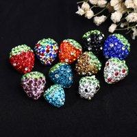 bolas de diamantes de imitación de 12 mm al por mayor-DS7 12mm-16MM MUTI-COLOR CRYSTAL BEAD Joyería nuevo Rhinestone Mix Colors disco fresa granos arcilla Shamballal Crystal Ball DIY Beads