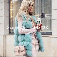 fox mujer venda por atacado-Mulheres do vintage Coletes De Pele Real Gilets Personalizado TAMANHO MAIS genuíno jaqueta colete de pele Casacos de raposa Natural abrigo mujer
