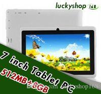 tableta epad 8 gb al por mayor-10X 7 pulgadas Capacitiva Allwinner A33 Quad Core Android 4.4 doble cámara Tablet PC 8GB RAM 512MB ROM WiFi EPAD Youtube Facebook Google DHL