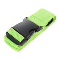 hebillas de correa de bloqueo al por mayor-1X Maleta ajustable Correas de equipaje Equipaje de viaje Cinturón Hebilla Amarre Cerradura verde