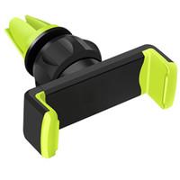 supports mobiles achat en gros de-Support de téléphone portable de voiture pour 6 pouces ou plus petit dispositif divers avec les matériaux ABSPVC de rotation de ventilation à air mobile mobile de 360 degrés