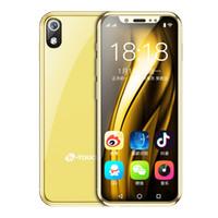 mp3 android çin toptan satış-Mini Cep telefonları mobil android akıllı telefon kilidini I9 Android 8.1 3 GB RAM 32GB ROM küçük çift sim orijinal 4g lte volte çin cep telefonu