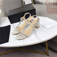 Wholesale make up import resale online - The new high heels with square head and drill are made of imported leather fabric with leather outsole high heel sandals With original box